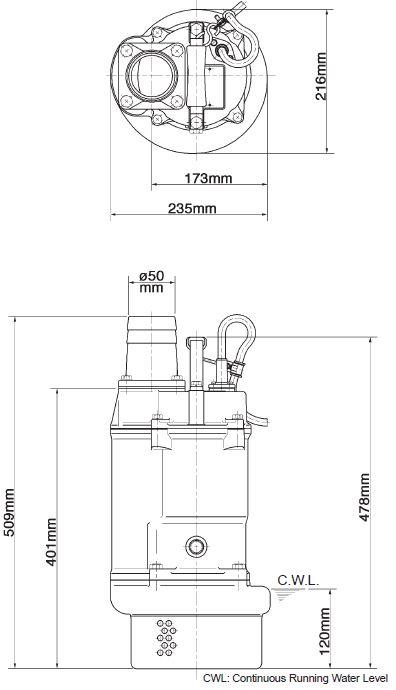 Dupagro com - TSURUMI KTZ21 5 Submersible Slurry Pump